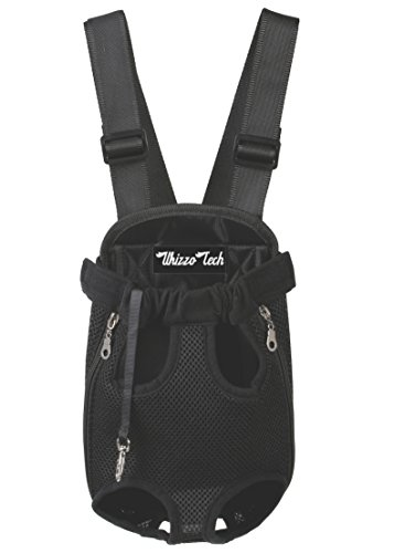 Legs Out Pet Carrier - Whizzotech Pet Carrier Backpack, Adjustable Pet Front Cat Dog Carrier Backpack Travel Bag, Legs Out, Easy-Fit for Traveling Hiking Camping PB03 (XL, Black)