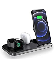 3 in 1 Double Fold Wireless Fast Charger 15W Dock Station Charging For iPhone Airpods Apple Watch All Series