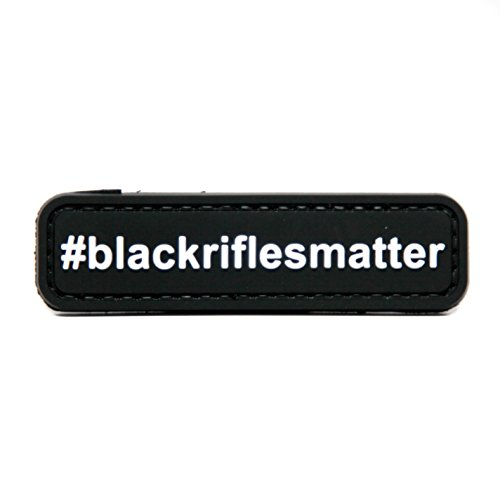 Black Rifles Matter #blackriflesmatter PVC Morale Patch, Hook Backed Morale Patch by NEO Tactical Gear