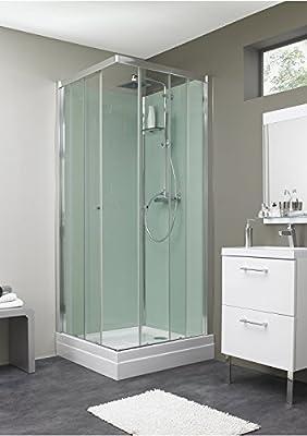Cabina de ducha esquinera, 90 x 90 cm, diseño de EDEN: Amazon.es: Bricolaje y herramientas