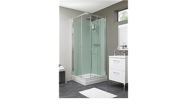Cabina de ducha esquinera, 90 x 90 cm, diseño de EDEN: Amazon.es ...