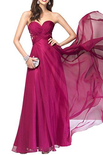 A Pink Festlichkleider Abendkleider Brautmutterkleider mia Chiffon Linie La Anmutig Rock Ballkleider Brau Partykleider Spitze Lang XzPHXwq6yx