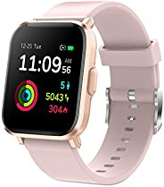 Smart Watch, Fitness Tracker Full Touch Screen Smart Watch, 5ATM Waterproof Smart Watch for Man / Woman with H