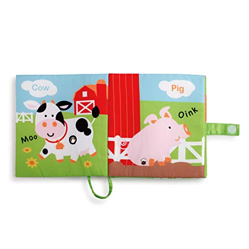 DEMDACO Happy Barnyard Friends Corn Rustic Red Children's Musical Soft Book Toy