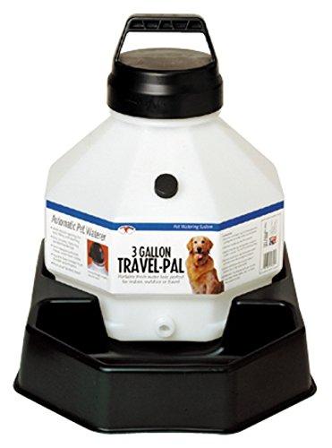 Travel Waterer (Miller Manufacturing Travel Pal Pet Waterer Portable Watering System Plastic)