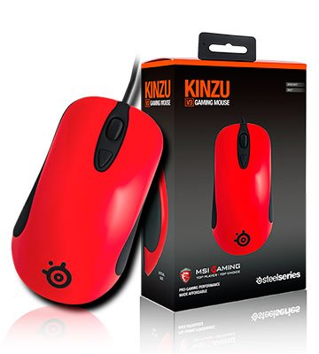 MSI Steelseries KINZU V3 Optical Gaming Performance 3 Buttons Mouse (Bloody Orange) <span at amazon
