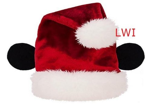 Plush Disney Mickey Mouse Santa Ear Christmas Hat