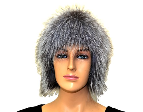 100% Silver Fox Fur Winter Hat Very Soft by Hima
