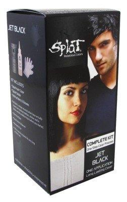 Splat Rebellious Colors Hair Coloring Kit Jet Black (Pack of 2)