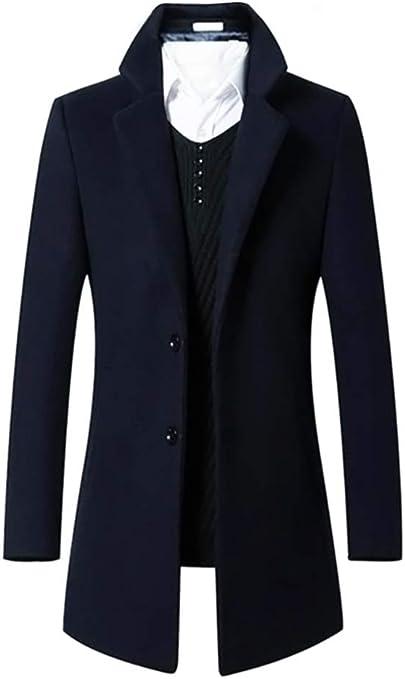 TALLA S. Abrigo largo de la chaqueta de los botones del solo pecho 2