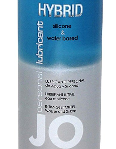 System Jo Hybrid Silicone & Water Based (50/50 Formula Offers the Best of Jo Premium and Jo H2o) Sex Lubricant : Size 8 Fl. Oz / 240 Ml.