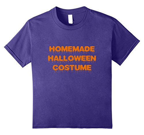Kids Homemade Halloween Costume T-Shirt 12 Purple