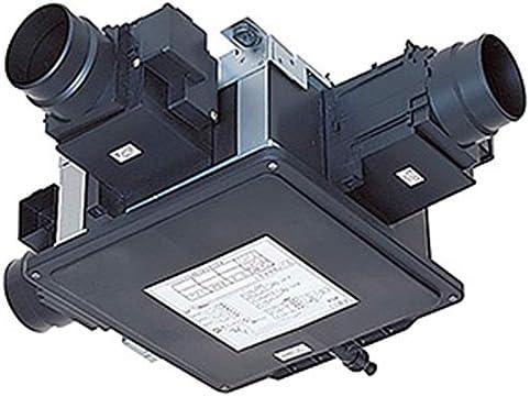 三菱 ダクト用換気扇 電動ダンパー付中間取付形ダクトファン 低騒音形 サニタリー用 1~3部屋換気用 排気専用 接続パイプφ100mm 羽根径140mm V-15ZMDC3-C