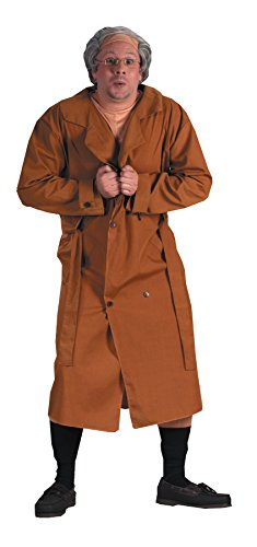 (FunWorld UHC Men's Frank The Flasher Dirty Old Man Outfit Halloween Fancy Costume,)