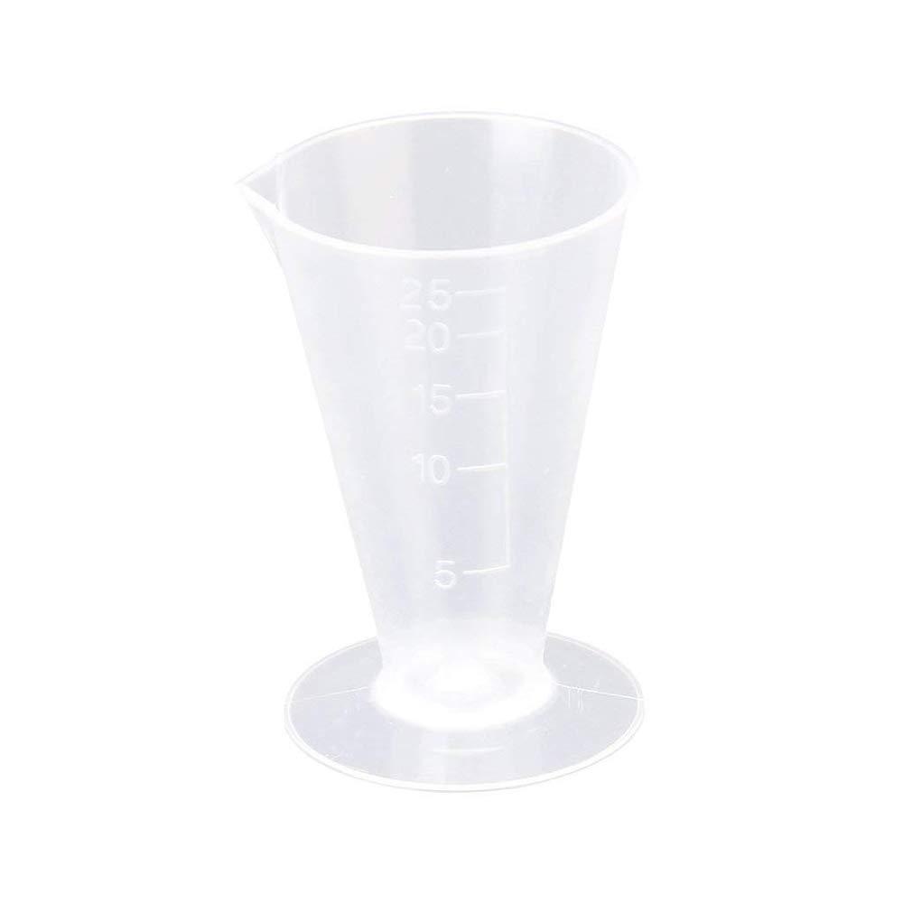 Potelin 25ml Kitchen Laboratory Plastic Measurement Beaker Measuring Cup