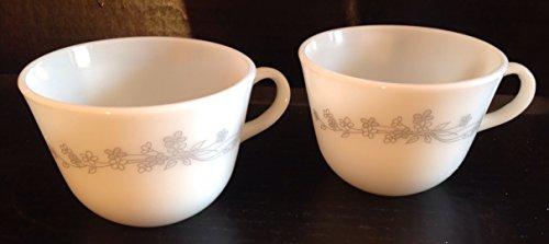 (Pyrex Ribbon Bouquet Teacups, Set of 2)