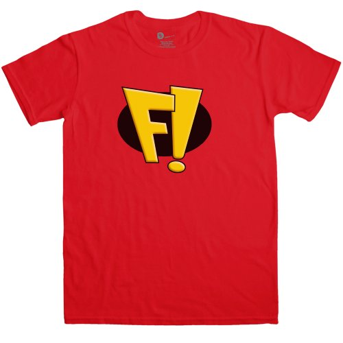 Freakazoid Costume (Refugeek Tees - Mens T Shirt - Cosplay Costume T Shirt - Red - Large)