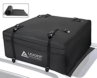 Leader Accessories Waterproof Car Roof Bag Rooftop Carrier With Car Roof Bag Mat