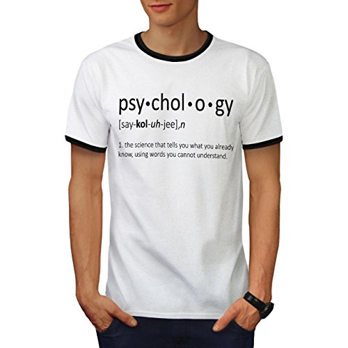 wellcoda Psychology Science Mens Ringer T-Shirt, Funny Graphic Print TeeWhite/Black L