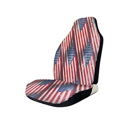INTERESTPRINT Car Seat Cover Protector Cushion Cool Skull Comfortable Wear Resistant Universal Automobile Seat Covers