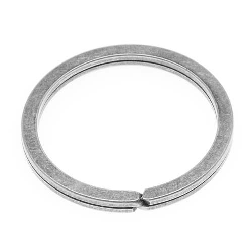 Designs Nunn Metal (Nunn Design Antiqued Silver Plated Key Ring 1 1/4 Inch (1))
