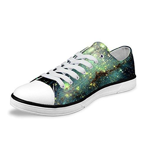 Per Te Disegni Alla Moda Galaxy Unisex Canvas Canvas Fashion Sneaker Casual Lace-up Scarpe Basse Basse Basse Galaxy A6