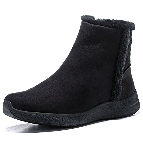 Womens Warm Lined Boots (APELPES Womens Fully Fur Lined Winter Snow Boots (5 B(M) US, Black))