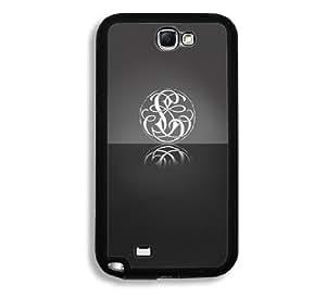 Black Monogram U Samsung Galaxy Note 2 Note II N7100 Case - Fits Samsung Galaxy Note 2 Note II N7100