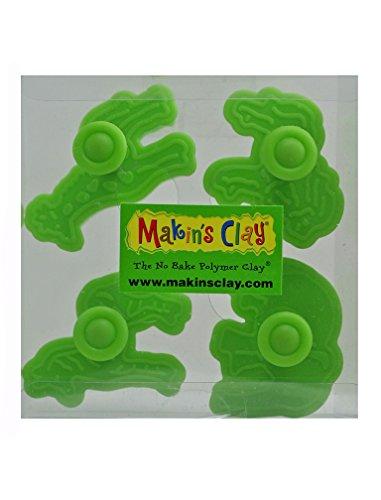Makin's Clay Plunger Cutter Set, Zoo Animals