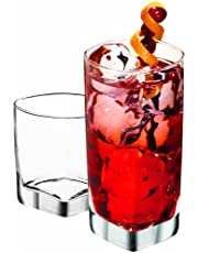 Anchor Hocking Rio Small and Large Drinking Glasses, Set of 16, Clear, 80850L13