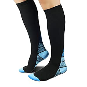 Compression Socks, Gradient Press Support: 20-30 mmHg, Speed-up Muscle Recovery sock, Fit for Running, Athletic Sports, CrossFit, Flight Travel, Pregnancy, Nurses, Enhance Circulation, Boost Stamina