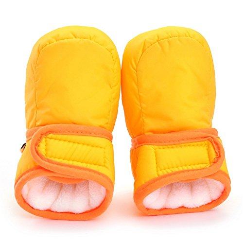 Bebé Niños Niñas Invierno Cálido Botas Zapatos de Cuna gris gris Talla:3-6 meses amarillo