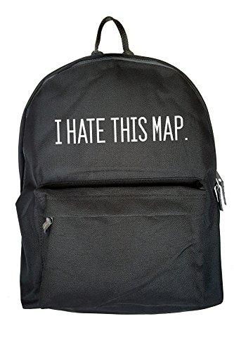 I Hate This Map Gamer Drucken Backpack Rucksack beiläufig Daypack schwarze Tasche rR8mWxwqX