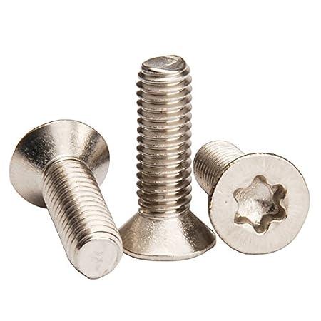 M6 x 20mm M6 Flat Head Torx Screws,Countersunk Head Torx Screws,Full Thread,Pack of 10-Piece