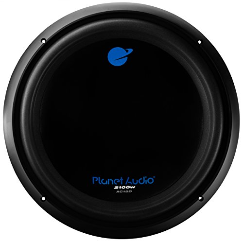 Planet Audio AC15D 2100 Watt, 15 Inch, Dual 4 Ohm Voice Coil Car Subwoofer