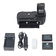 DSTE® Pro BG-E18 Vertical Battery Grip + 2x LP-E17 Battery + Travel & Car Charger For Canon EOS M3 750D 760D Rebel T6i T6s 8000D Kiss X8i Digital Cameras
