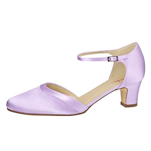 Blanco Elsa de vestir 301022 marfil blanco de Zapatos para marfil marfil mujer Coloured Shoes Satén vvqar