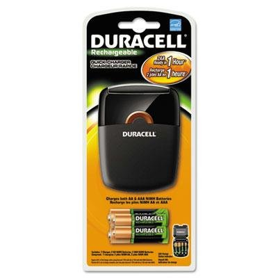 Duracell - Quick Charger 4 Pre-Charged Rechargeable Nimh Batteries Product Category: Breakroom And Janitorial/Batteries & Electrical (Janitorial & Breakroom Supplies)