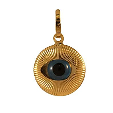 Sayers London 9ct Gold Evil Eye Charm Amazon Jewellery