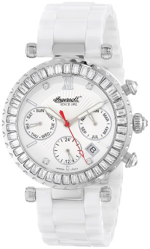 Ingersoll Women's IN7216WHMB Albany Analog Display Automatic Self Wind White Watch
