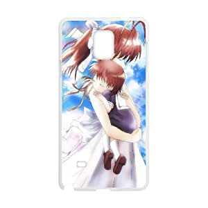 Samsung Galaxy Note 4 Cell Phone Case Covers White Clannad bdg wmct