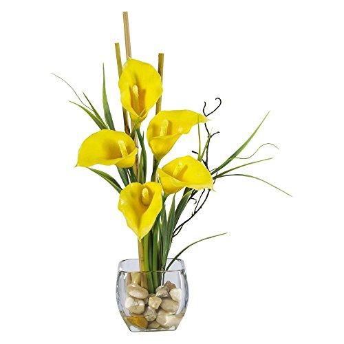 - Nearly Natural Liquid Illusion Calla Lilly Silk Flower