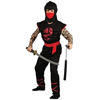 Amazon.com: Boys Muscle Chest Ninja Warrior Costume for ...