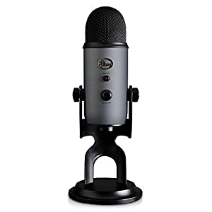 Blue Microphone Yeti USB Microphone (Slate) with Headphones and Knox Pop Filter by Blue