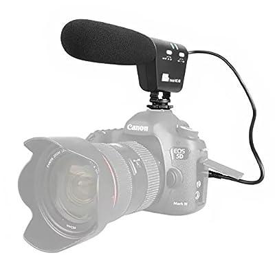 Interview MIC Microphone for Nikon Canon DSLR Camera DV Camcorder ...