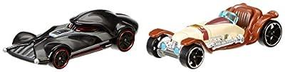 Hot Wheels Star Wars Character Car 2-Pack, Obi-Wan Kenobi vs. Darth Vader