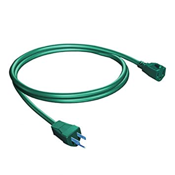 18 ft green christmas light extension cord indooroutdoor green christmas light extension cord indooroutdoor mozeypictures Choice Image