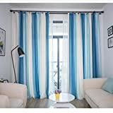 Nordic Minimalist Modern Curtains Gradient Stripe Nordic Style Bedroom Shading Living Room (Size : 1.5 * 2.7m)