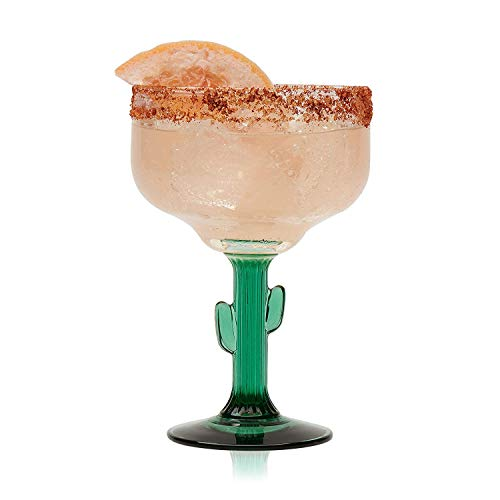 Libbey Cactus Margarita Glasses, 12 Ounce, Set of 4 ()