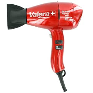 Hair Blow Dryer Swiss Nano 9200 Superionic T Red by Valera Professional